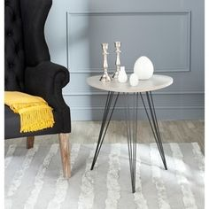 Shop for Safavieh Mid-Century Wolcott Grey/ Black Side Table. Get free shipping at Overstock.com - Your Online Furniture Outlet Store! Get 5% in rewards with Club O!
