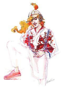 John Galliano by BENDA Illustration.Files: Art Time