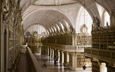 "The Telegraph listed the ""The most spectacular libraries in the world"" and 2 of them are Portuguese: The Library of of the University of Coimbra (slide 1) and Mafra Palace Library (slide 4) 19/10/2013 #Portugal"