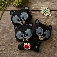 Harris | Disney Store Stuff your season with joy when hanging Disney Parks plush ornaments on your family tree. Adore our trio of bear cubs from Disney•Pixar's <i>Brave</i> in a folk-craft design with embroidered detailing and the festive feel of felt.