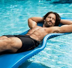 Joe Manganiello - in my pool!  Yes PLEASE!