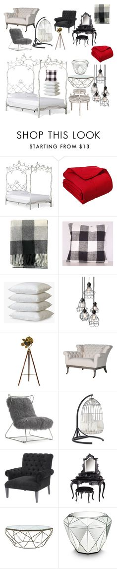 """Untitled #53"" by rileyelizabethgarr ❤ liked on Polyvore featuring interior, interiors, interior design, home, home decor, interior decorating, Cottonloft, Pendleton, Mitchell Gold + Bob Williams and Jayson Home"