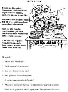 Atividades para imprimir Festa Junina - Mundinho da Criança - Atividades para Educação Infantil