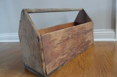 Vintage Wood Box Rustic Tool Box Wooden by StoreFourandMore