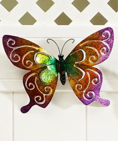 Loving this Purple & Orange Butterfly Wall Art on #zulily! #zulilyfinds