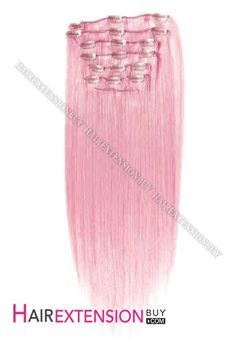 100 human hair extensions light pastel pink by theunicornmane clip in hair extensions 15 pink funky straight full head set clip in human pmusecretfo Images