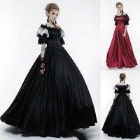 Wish Women Vintage Victoria Palace Ball Gown Dress Big Hem Party
