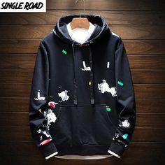 Style Streetwear, Streetwear Fashion, Printed Sweatshirts, Mens Sweatshirts, Stylish Hoodies, Embroidered Clothes, Shirt Style, Street Wear, Harajuku