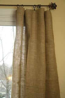 No Sew Burlap Curtains!