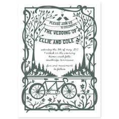 Papercut Inspired Wedding Invitation by amyheitman on Etsy