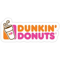 'Dunkin' Donuts Logo' Sticker by Ashii-