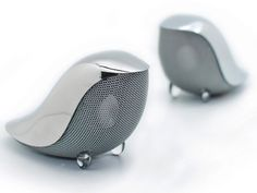 Stylized stereo speakers