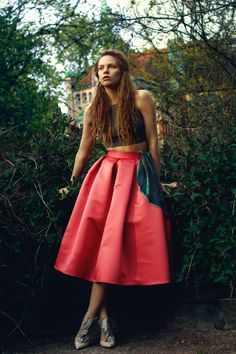 JAVS: DIY | Midi length princess skirt DIY pleated skirt