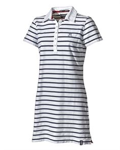 Bea Dress white/navy