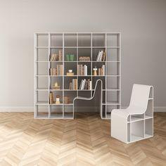 Sou Fujimoto - Bibliothèque et chaise hybride
