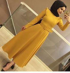 Hijab Evening Dress, Hijab Dress, Hijab Outfit, Blouse Dress, Modern Hijab Fashion, Abaya Fashion, Modest Fashion, Fashion Dresses, Modele Hijab