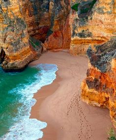 Dona Ana Beach, Algarve, Portugal I Can. To go visit my family in Portugal. Places Around The World, Oh The Places You'll Go, Places To Travel, Places To Visit, Around The Worlds, Travel Destinations, Hidden Places, Algarve, Dream Vacations