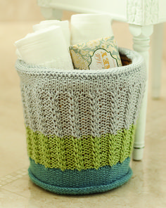 cute knit stuff holder.