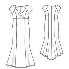 Burda 2010 03 Платье
