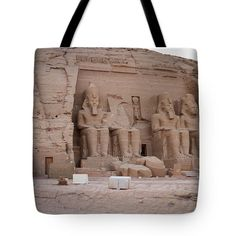 Tote Bag featuring the photograph Temple Of Rameses II by Silvia Bruno