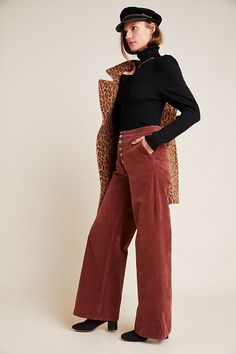 Shop our sale on women's clothing at Anthropologie and fill your closet with fashionable essentials that will turn heads everywhere you go! Corduroy Pants Women, Pants For Women, Clothes For Sale, Clothes For Women, Aesthetic Fashion, Wide Leg, Anthropologie, Fashion Outfits, Legs