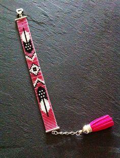 Native American feather Cuff Bracelet  - idea for bead loom