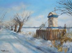 Chapel in Poland/ Przydrozna kapliczka Poland Travel, Heart Of Europe, Winter Painting, Holy Mary, Winter Beauty, My Heritage, Kirchen, Catholic, National Parks