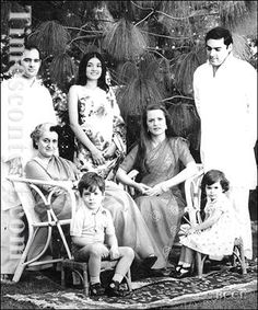 The Nehru-Gandhi dynasty: Sanjay (who died in a plane crash), Maneka (MP, now member of the BJP), Indira (former PM, assassinated by her bodyguards),  Sonia (Congress President & UPA Chairperson), Rajiv (former PM, assassinated by LTTE), Rahul (MP) and Priyanka