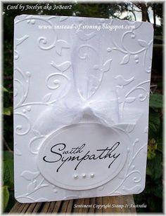 Cuttlebug: Birds and Swirls - my 2nd Sympathy Card