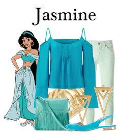 """Jasmine"" by megan-vanwinkle ❤ liked on Polyvore featuring 7 For All Mankind, Jennifer Zeuner, Nanette Lepore, ILI, Tory Burch and aladdin"