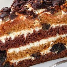 Chocolate and Golden Vanilla Layer Cake