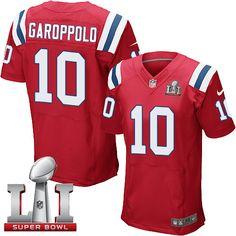 Nike Patriots #10 Jimmy Garoppolo Red Alternate Super Bowl LI 51 Elite Jersey