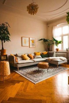 Boho Living Room, Living Room Interior, Home And Living, Living Room Brown, Living Room Yellow, Earth Tone Living Room Decor, Living Room Decor Unique, Earthy Home Decor, Warm Colours Living Room