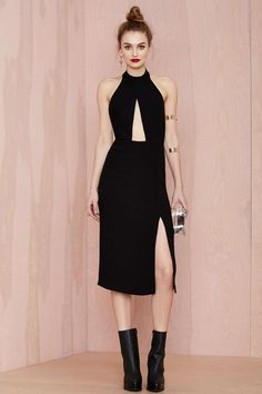 Nasty Gal Back Sabbath Crepe Dress