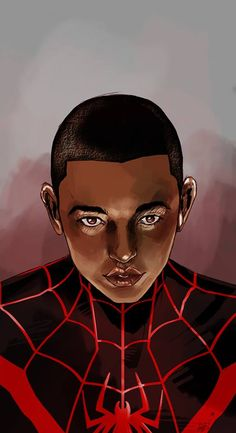 """Miles Morales"", illustrated by Bimpe Alliu. Skins Characters, Black Characters, Comic Book Characters, Comic Books Art, Comic Art, Marvel Fan Art, Marvel Heroes, Marvel Comics, Ultimate Spider Man"