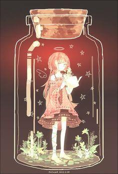 Bottle anime girl