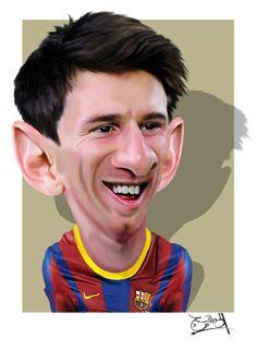 ميسي Messi cartoon كاريكاتير