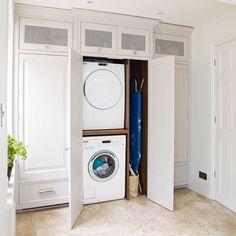 Easy-kitchen-updates-stack-washing-machine