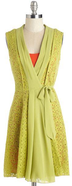 layered wrap lace dress