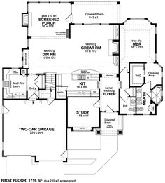house plans without formal dining room - Google Search | Homes ...