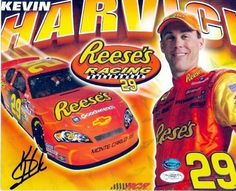 Kevin Harvick Autographed Picture - 8x10 Racing Reeses - Autographed NASCAR Photos by Sports Memorabilia. $57.80. Kevin Harvick autographed 8x10 photo (Auto Racing- NASCAR) Reeses. Item comes fully certified with a tamper-evident, serialized hologram and certificate of authenticity.