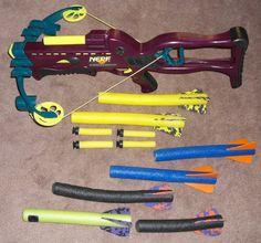 NERF Crossbow Dart Gun 1995 Kenner