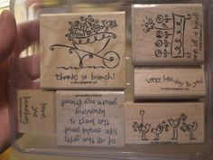 Love Ya Bunches Stampin' Up Rubber Stamp Set. $15.00, via Etsy.