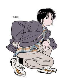 Art And Illustration, Character Illustration, Illustrations, Fashion Illustration Chanel, Cute Art Styles, Cartoon Art Styles, Anime Art Girl, Manga Art, Cartoon Kunst