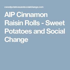 AIP Cinnamon Raisin Rolls  - Sweet Potatoes and Social Change