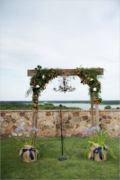 wedding altar ideas #outdoorceremony #weddingaltar #weddingchicks http://www.weddingchicks.com/2014/04/07/playful-pink-and-navy-wedding/