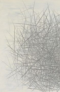 Il Lee, ballpoint and oil on canvas, art projects international, new york