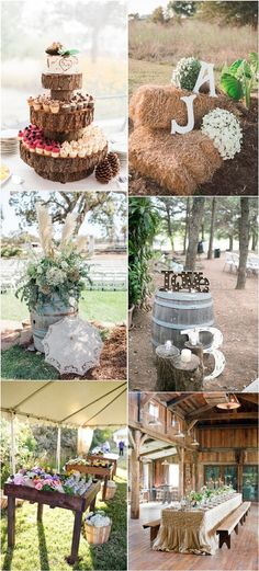 chic country rustic wedding decor ideas themes trends / http://www.deerpearlflowers.com/rustic-wedding-details-ideas-you-will-love/2/