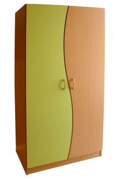 Armario mod. 664-F Armario habitación realizado en melamina de haya y estratificado, provisto de barra para colgar y baldas.