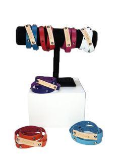 Leather Studded Wrap Bracelet by AnaZepol on Etsy, $12.00